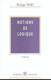Notions de logique - Intérieur - Format classique