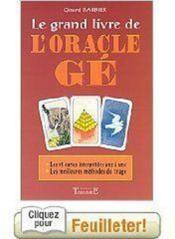 Grand Livre De L'Oracle Ge - Couverture - Format classique