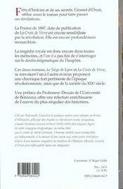 La croix de verre ; le siège de Lyon - 4ème de couverture - Format classique