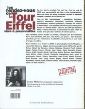 Les Rendez-Vous De La Tour Eiffel - 4ème de couverture - Format classique