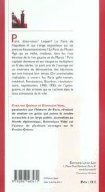Promenades historiques dans Paris - 4ème de couverture - Format classique