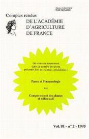 Payen et l'enzymologie ; comptes rendus de l'aaf t.81 n.2 - Couverture - Format classique