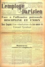 Employe Parisien (L') N°4 du 01/04/1938 - Couverture - Format classique