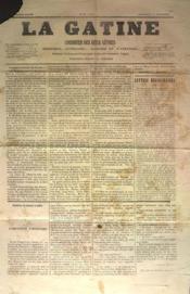 Gatine (La) N°34 du 09/11/1870 - Couverture - Format classique