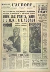 Aurore (L') N°5553 du 13/07/1962 - Couverture - Format classique
