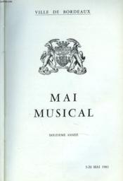MAI MUSICAL. BORDEAUX. 12e ANNEE. 5-20 MAI 1961. - Couverture - Format classique