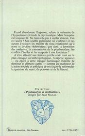 Emprise Et Liberte - 4ème de couverture - Format classique