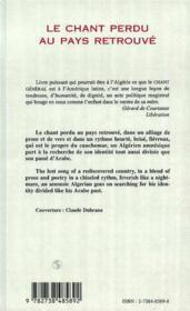 Le chant perdu au pays retrouvé ; the lost song of a rediscovered country - 4ème de couverture - Format classique