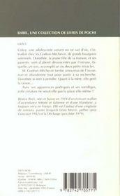 Grace - 4ème de couverture - Format classique