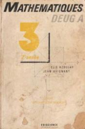 Maths Deug A T.3 ; 2e Annee - Couverture - Format classique