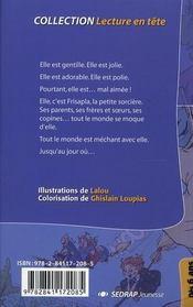La sorcière mal aimée ; CP/CE1 - 4ème de couverture - Format classique