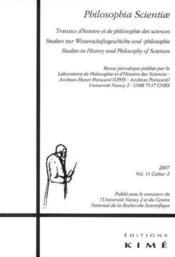 Philosophia Scientiae T11/2 2007 - Couverture - Format classique
