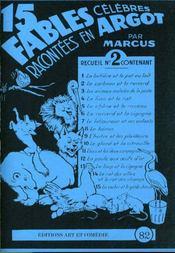 15 fables célèbres racontées en argot t.2 - Intérieur - Format classique