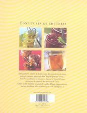 Confitures Et Chutney - 4ème de couverture - Format classique