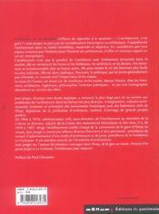 Architecture, un art necessaire - 4ème de couverture - Format classique
