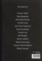 Eisenstein L Ancien Et Le Nouveau - 4ème de couverture - Format classique