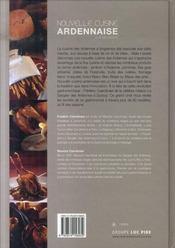 La nouvelle cuisine ardennaise - 4ème de couverture - Format classique