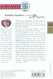 Balades Insolites Autour De Paris - 4ème de couverture - Format classique