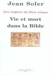 Vie et mort dans la bible - Intérieur - Format classique