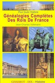 Genealogies completes des rois de france - Intérieur - Format classique