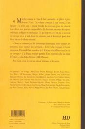 Armand Gatti ; L'Arche Des Langages - 4ème de couverture - Format classique