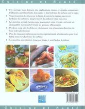 Cuisine minceur pauvre en hydrates de carbone - 4ème de couverture - Format classique