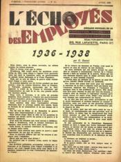 Echo Des Employes (L') N°11 du 01/04/1938 - Couverture - Format classique