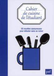 Cahier de cuisine de l'étudiant - Couverture - Format classique