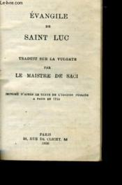 Evangile De Saint Luc - Couverture - Format classique