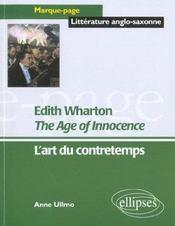 Edith Wharton The Age Of Innocence L'Art Du Contretemps - Intérieur - Format classique