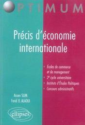 Precis D'Economie Internationale Ecoles De Commerce Et De Management 2e Cycle Universitaire - Intérieur - Format classique