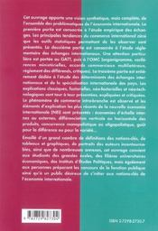 Precis D'Economie Internationale Ecoles De Commerce Et De Management 2e Cycle Universitaire - 4ème de couverture - Format classique