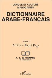 Dictionnaire arabe-français t.1 - Couverture - Format classique