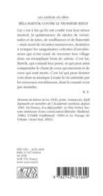 Bela Bartok Contre Le Troisieme Reich - 4ème de couverture - Format classique