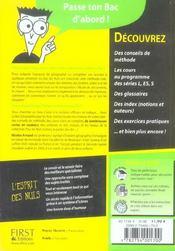 Le Bac Geographie Pour Les Nuls - 4ème de couverture - Format classique