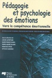 Pédagogie et psychologie des émotions ; vers la compétence émotionnelle (édition 2005) - Intérieur - Format classique