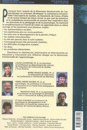 Pédagogie et psychologie des émotions ; vers la compétence émotionnelle (édition 2005) - 4ème de couverture - Format classique