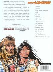 Buddy Longway t.1 ; Chinook - 4ème de couverture - Format classique