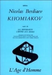 Khomiakov:L'Epitre Aux Serbes - Couverture - Format classique