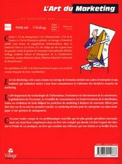 L'Art Du Marketing - 4ème de couverture - Format classique