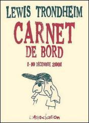 Carnet De Bord 1 (1-10/12/2001, La Reunion) - Couverture - Format classique