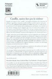 Conflit, Mettre Hors Jeu La Violence 4e Edition - 4ème de couverture - Format classique