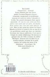 Pensees Repliques Et Anecdotes - 4ème de couverture - Format classique