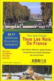 Tous les rois de france - 4ème de couverture - Format classique