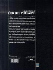 L'or des pharaons - 4ème de couverture - Format classique