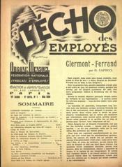 Echo Des Employes (L') N°1 du 01/05/1938 - Couverture - Format classique