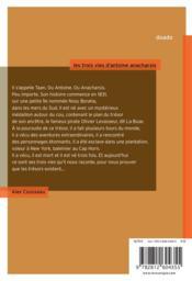 Les trois vies d'Antoine Anacharsis - 4ème de couverture - Format classique