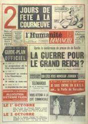 Humanite Dimanche (L') N°687 du 10/09/1961 - Couverture - Format classique