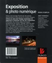 Exposition & photo numérique ; mode d'emploi - 4ème de couverture - Format classique