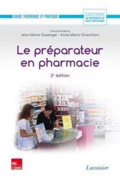 Fiche metier preparateur en pharmacie